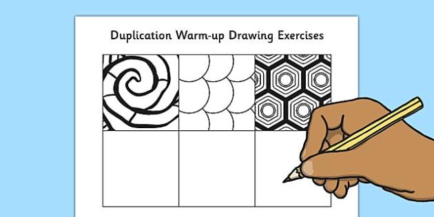Duplication Warm Up Drawing Exercises - duplication, warm up, drawing, exercises