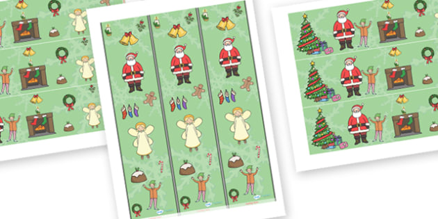 Christmas Display Borders - Christmas, xmas, Display border, classroom border, tree, advent, nativity, santa, father christmas, Jesus, tree, stocking, present, activity, cracker, angel, snowman, advent , bauble