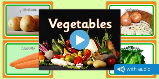 Vegetable Audio Flashcards - fruit, photos, audio, sound, flash cards