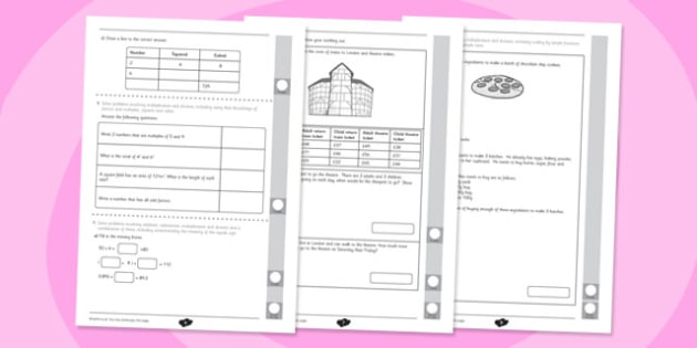 Year 5 Maths Assessment: Multiplication and Division Term 2 - Maths, Assessment, Number, Multiplication, Division