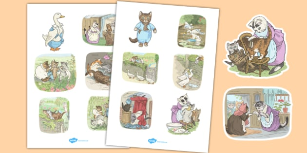 Beatrix Potter - The Tale of Tom Kitten Story Cut Outs - beatrix potter, tom kitten