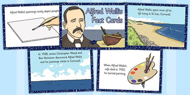 Alfred Wallis Fact Cards - alfred, wallis, fact, cards, facts