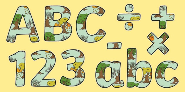 Seasonal Changes Themed Display Letters and Numbers Pack - seasonal changes, display lettering, display, letter, number, Science lettering, Science display, Science display lettering