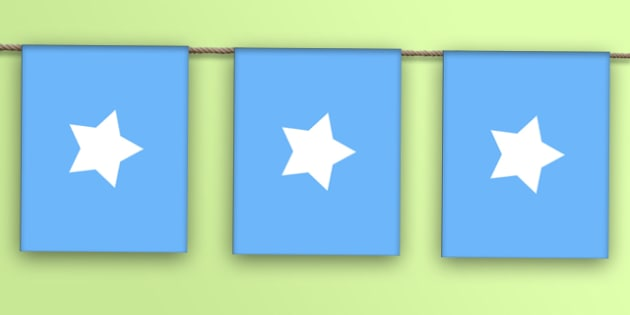 Somalia Flag Bunting - flag, world, country, countries, Africa, display, Olympics, Rio, 2016, celebrate, event
