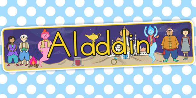 Aladdin Display Banner - banners, displays, posters, poster