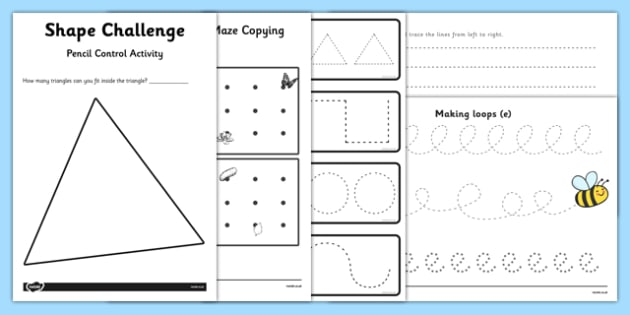Pencil Control Activity Pack