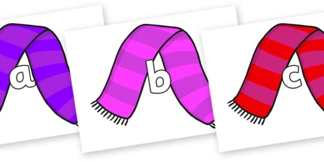 Phase 2 Phonemes on Scarves - Phonemes, phoneme, Phase 2, Phase two, Foundation, Literacy, Letters and Sounds, DfES, display