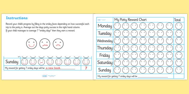 Potty Training Reward Chart - potty training reward chart, potty, training, pot, chart, reward, award, awarding, trip to the potty,