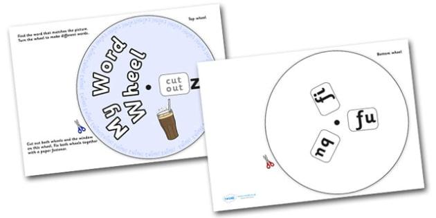 Phonics Digraph Word Wheel (zz) - Phonics, Digraph, word wheel, zz, DfES Letters and Sounds, Letters and Sounds