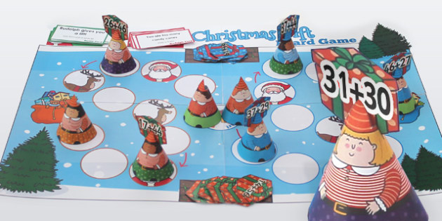 Addition to 100 Christmas Board Game - Games, Activity, Adding