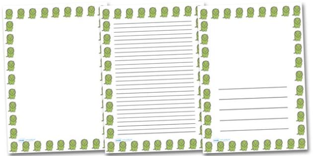 Cute Triceratops Portrait Page Borders- Portrait Page Borders - Page border, border, writing template, writing aid, writing frame, a4 border, template, templates, landscape