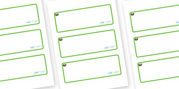 Conker Themed Editable Drawer-Peg-Name Labels (Blank) - Themed Classroom Label Templates, Resource Labels, Name Labels, Editable Labels, Drawer Labels, Coat Peg Labels, Peg Label, KS1 Labels, Foundation Labels, Foundation Stage Labels, Teaching Label