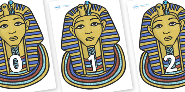 Numbers 0-31 on Mummy Masks - 0-31, foundation stage numeracy, Number recognition, Number flashcards, counting, number frieze, Display numbers, number posters