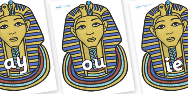 Phase 5 Phonemes on Tutankhamun - Phonemes, phoneme, Phase 5, Phase five, Foundation, Literacy, Letters and Sounds, DfES, display