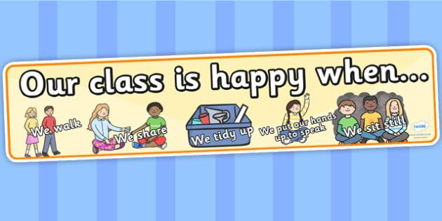 Happy Class Display Banner - happy class, display, banner, display banner, display header, themed banner, banner for display, class banner, display, happy