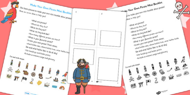 Make Your Own Pirate Mini Booklet - pirates, pirate booklet
