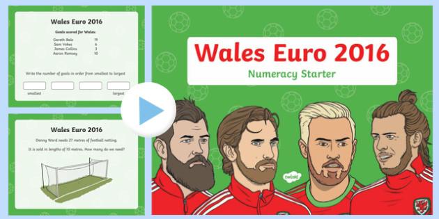 Euro 2016 Numeracy Starter Year 2 PowerPoint-Welsh