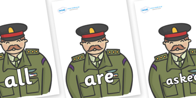 Tricky Words on Generals - Tricky words, DfES Letters and Sounds, Letters and sounds, display, words
