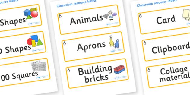 Penguin Themed Editable Classroom Resource Labels - Themed Label template, Resource Label, Name Labels, Editable Labels, Drawer Labels, KS1 Labels, Foundation Labels, Foundation Stage Labels, Teaching Labels, Resource Labels, Tray Labels, Printable l