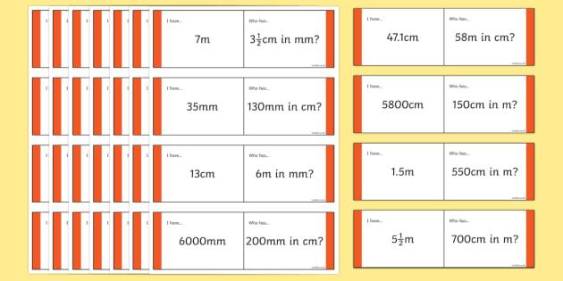 Length Conversion Loop Cards - lengths loop cards, converting lengths, measurements, measurements loop cards, length conversion game, ks2 maths game