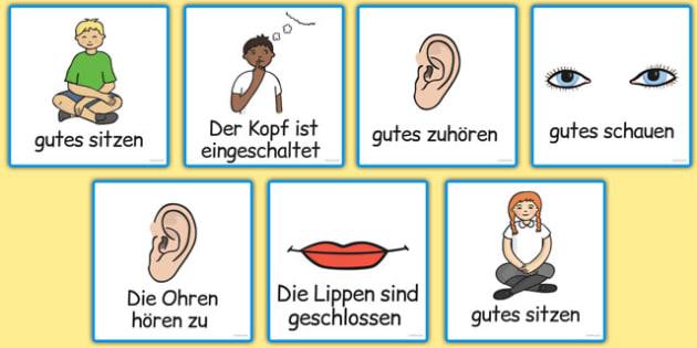 Good Listening Cards German - german, good listening, cards, good, listening