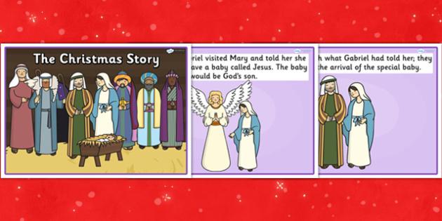 My Christmas Story - christmas, story, visual aids, xmas, stories