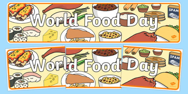 World Food Day Display Banner - banners, displays, posters,