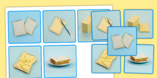 Making a Sandwich Photo Sequencing Cards - sequencing, cards