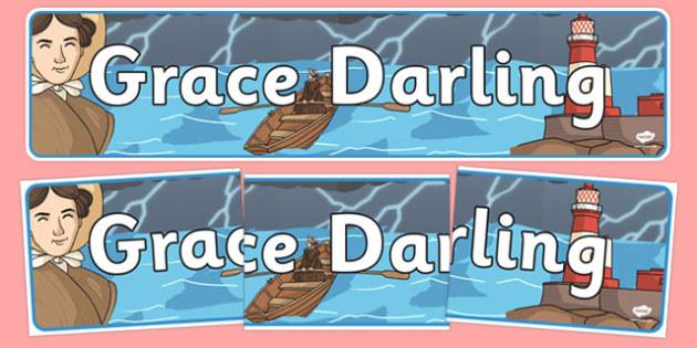 Grace Darling Display Banner - significant individuals, header
