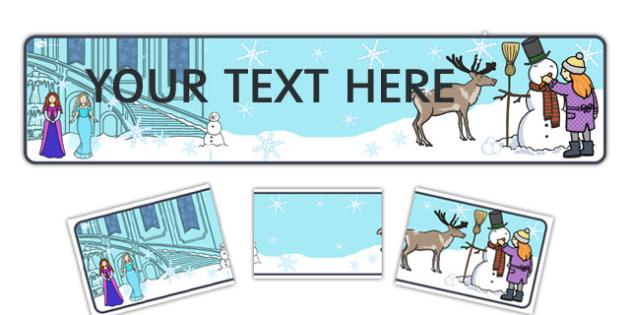 Winter Fairytale Editable Display Banner - frozen, display banner
