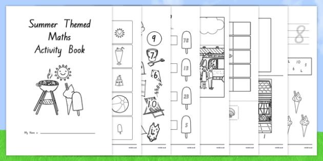 Summer Themed Junior Maths Activity Book - nz, new zealand, numeracy, season, weather