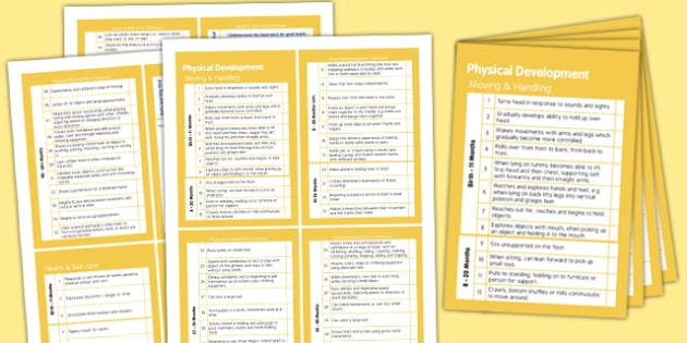 Pocket Sized EYFS Early Years Outcomes Tracking Document Physical Development