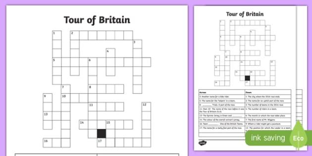 Tour of Britain Crossword