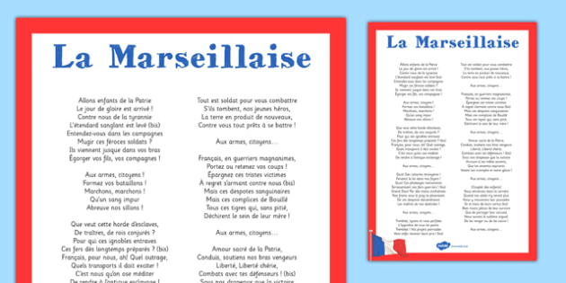 La Marseillaise - french, la marseillaise, display poster, display, poster, national anthem