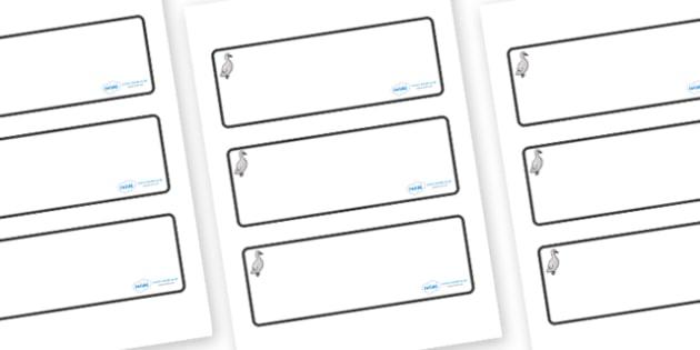 Cygnet Themed Editable Drawer-Peg-Name Labels (Blank) - Themed Classroom Label Templates, Resource Labels, Name Labels, Editable Labels, Drawer Labels, Coat Peg Labels, Peg Label, KS1 Labels, Foundation Labels, Foundation Stage Labels, Teaching Label