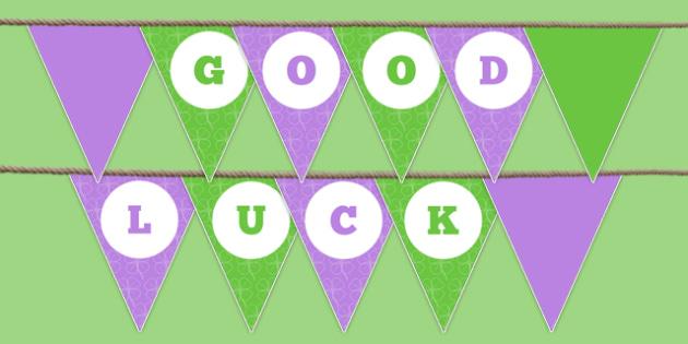 Good Luck Bunting - good luck, bunting, display, good, luck, display bunting, school leavers