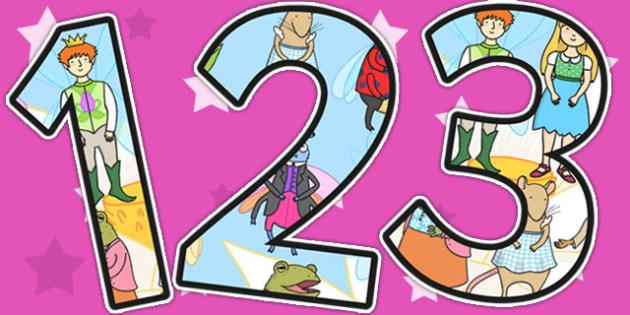 Thumbelina Themed Display Numbers - stories, display, numbers