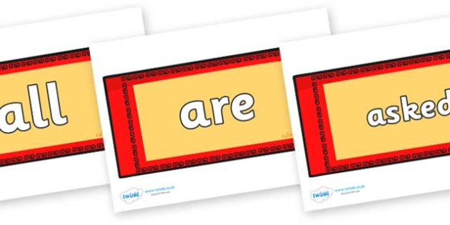 Tricky Words on Chinese Money Wallets - Tricky words, DfES Letters and Sounds, Letters and sounds, display, words