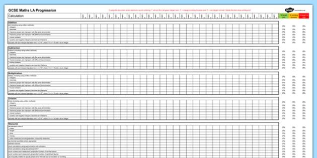 GCSE Maths Low Ability Progression Spreadsheet - KS4, Maths, GCSE, Assessment, Objectives, Progression, new curriculum, SEN, low ability,