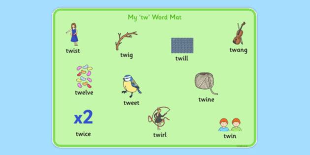 TW Word Mat - sen, sound, special educational needs, tw, word mat