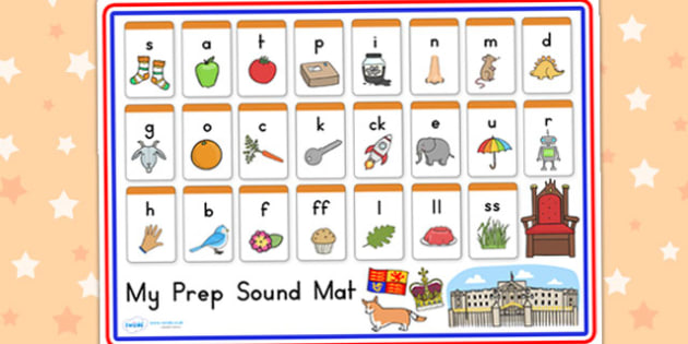 Royal Family Prep Sound Mat - queen elizabeth, visual aid, sounds