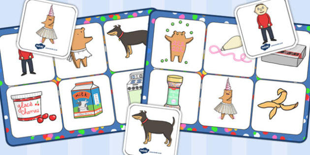 Matching Mat SEN to Support Teaching on Biscuit Bear - matching mat, sen, biscuit, bear