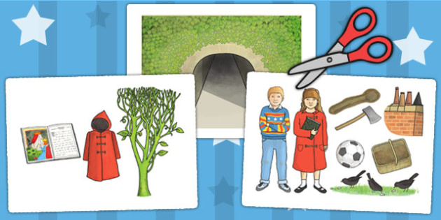 Display Picture Cut Outs to Support Teaching on The Tunnel - tunnel, story books, cutout