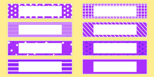 Gratnells Tray Labels Purple - displays, label, trays, gratnell