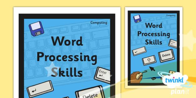 PlanIt - Computing Year 1 - Word Processing Skills Unit Book Cover - planit, book cover, computing, year 1, word processing skills