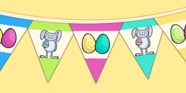 Easter Party Picture Bunting - easter, easter party, bunting