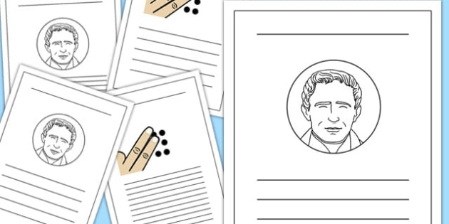 Louis Braille Writing Frames - louis braille, braille, writing