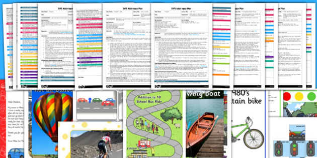 EYFS Transport Themed Adult Input Planning and Resource Pack - transport, adult led, eyfs, early years planning