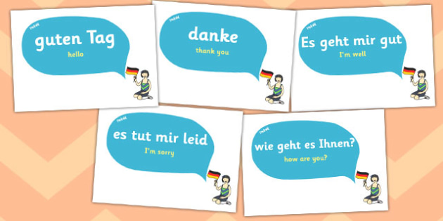 German Word Posters - MFL, German, Modern Foreign Languages, basic phrases in German, foundation, languages, display