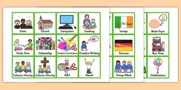 Small KS2 Visual Timetable - small, ks2, visual timetable, visual, timetable